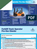 Forklift Truck Operator Poster