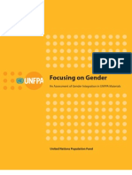 UNFPA Focusing on Gender