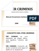 ITER CRIMINIS y La TENTATIVA