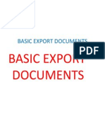 Basic Export Documents on 13 Th August 2011