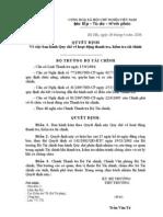 Ban hành về Quy Chế Hoạt động Thanh Tra, Kiểm Tra tài Chính - QĐ số 32 năm 2006 - BTC