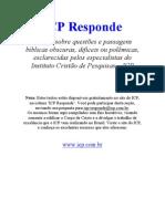 ICP Responde - Respostas as Duvidas bíblicas