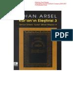 Kuran'ın Eleştirisi 3.CİLT - İlhan Arsel