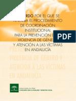 Procedimiento de Coordinación Institucional de La Junta de Andalucía