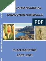 Plan Maestro 2007 - 2011 SN Tabaconas Namballe