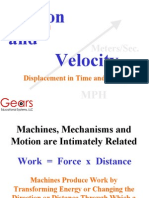 Gears Motion and Velocity