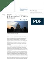 U.S. Approaches $15 Trillion Debt Limit