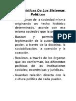 Características De Los Sistemas Políticos