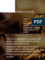 Team Negotiation
