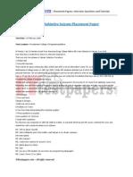 2008 Mahindra Satyam Placement Paper - 1