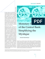 Monetory Policy- Simplifying the Mystique