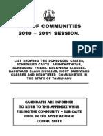 Communities List