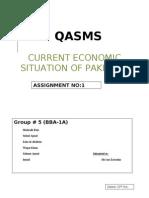 Current Economic Situation of Pakistan
