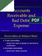 Accounts Recievables and Bad Debts