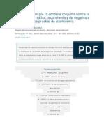Non Bis in Idem Por La Condena Conjunta Contra La Seguridad Del Trc3a1fico