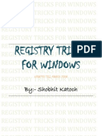 Registory Tricks for Windows