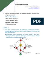 Solusi Olimpiade Astronomi Provinsi 2008