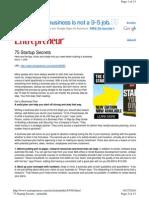 Entrepreneur - 75 Startup Secrets