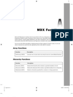 MDX Functions