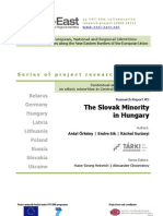 The Slovak Minority in Hungary