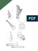 Instrumentos Musicais - Para Pintar