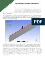 Pre-Buckled Shape in Nonlinear Buckling