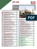 Big Bus Tour London Stop List