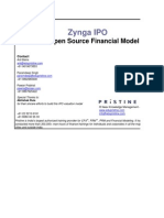Financial Model of Zynga IPO