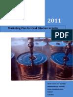 Marketing Plan for Cold Bitumen in India_School of Petroleum Management_Gandhinagar