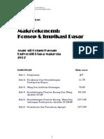 Nota Pendidikan Makroekonomi (1)
