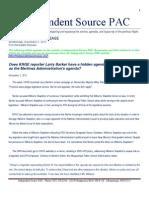 Press Realease. Re. Larry Barker and KRQE Adopting Martinez Administration Agenda. 11.02.11.