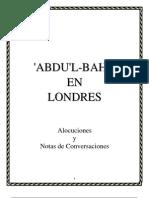 'Abdu'l-Bahá en Londres