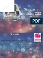 Introduccion a Hojas de Estilo CSS - Sintaxis