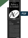 Vattimo Gianni - Adios a La Verdad