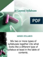 Mixed or Layered Syllabuses