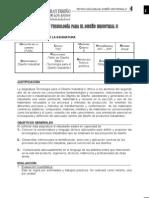 Programa de La Materia Tecnología Para El Diseño Industrial II (2007)