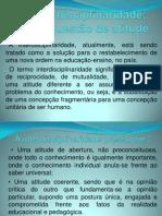 1 - Interdisciplinaridade
