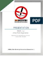 Non Smoking International Association (NSIA) - NGO Presentation