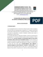 Edital Xv Cisopre-Alas Brasil 2012