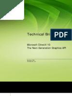 Microsoft DirectX 10 Technical Brief