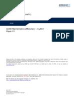 06 5MB1H Unit 1 Mark Schemes March 2011