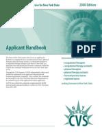 CGFNS CVS for New York Application Form
