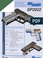 La nouvelle arme de poing des forces de l'ordre françaises - Sig Sauer SP2022