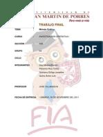 Trabajo Final de Inv. Operativa - 2011-II  Grupo 4