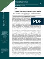 Torres, Medios Marco Regulatorio y Libertad de Prensa