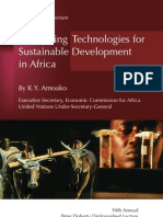 Harnessing Technologies for Sustainable Development in Africa