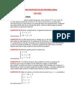 Probl Propuest de Progrm Lineal Solver