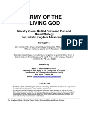 Army Of The Living God: Ministry Vision, Unified Command