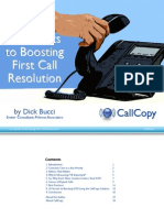 Secrets to Boosting First Call Resolution