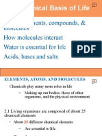 Chemistry - Chemical Basis of Life - Power Point
